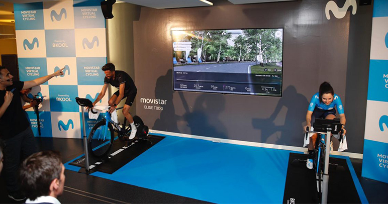 virtual cycling movistar