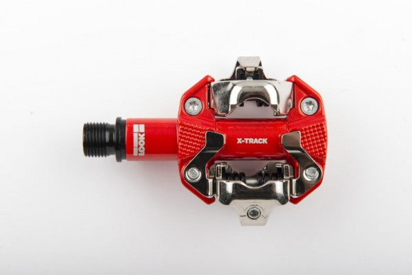 pedales look x-track rojo