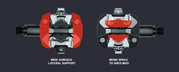pedales look x-track superficie de apoyo